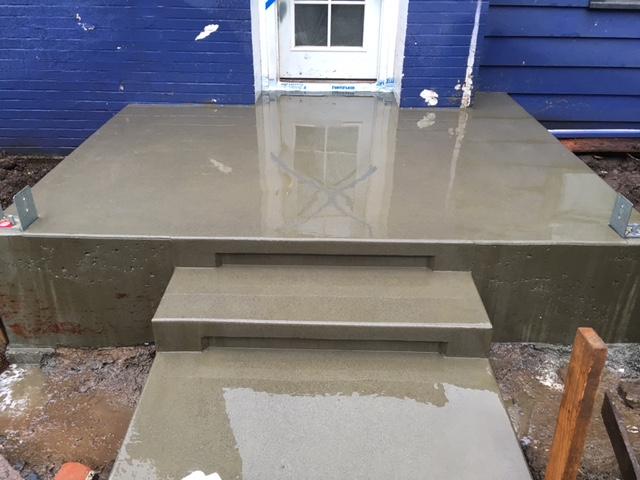 Acid Wash Concrete Patio Modern